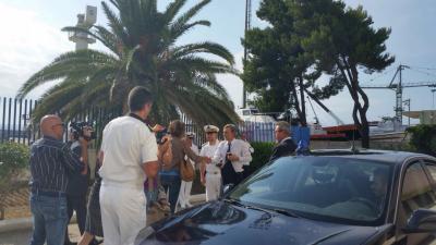 Augusta   IL MINISTRO DELLE INFRASTRUTTURE DELRIO IN VISTA RICOGNITIVA AL PORTO