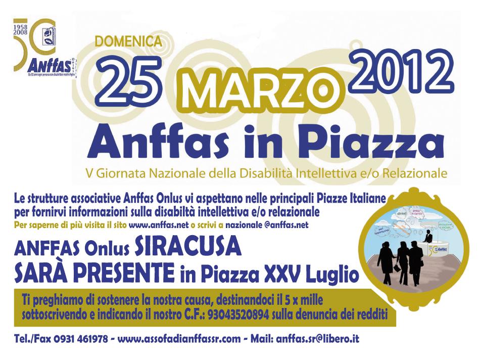 DISABILITA' INTELLETTIVA E RELAZIONALE: TORNA L'APPUNTAMENTO NELLE PRINCIPALI PIAZZE ITALIANE