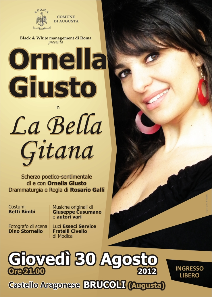 BRUCOLI|  BELLA GITANA… IL 30 AL CASTELLO ARAGONESE DI BRUCOLI
