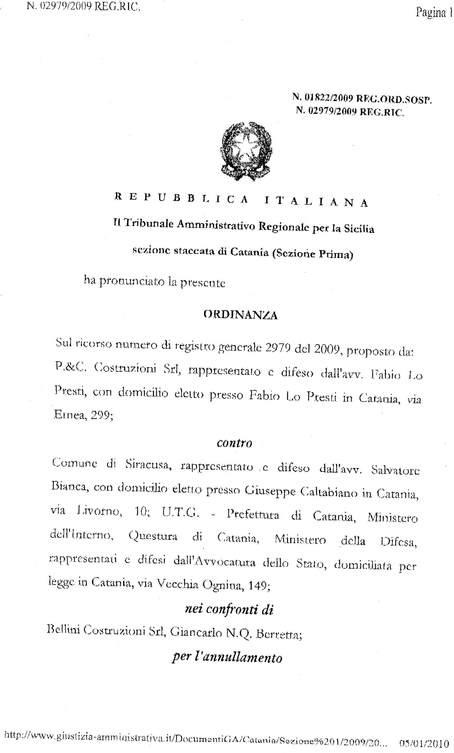 CASERMA VV.F.-AMMINISTRAZIONE INCAPACE