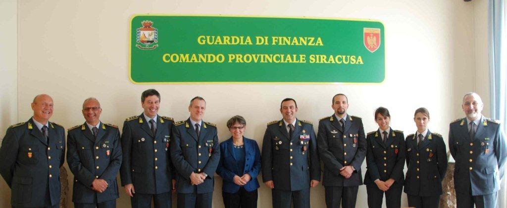 VISITA DEL PREFETTO SCADUTO AL COMANDO PROVINCIALE DELLE FIAMME GIALLE DI SIRACUSA