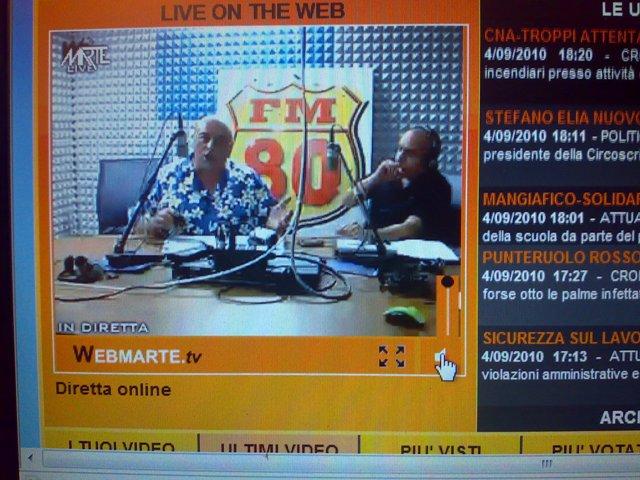 FM80-SUCCESSO PER LA DIRETTA SU WEBMARTE