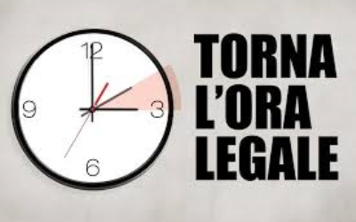 Roma  QUESTA NOTTE TORNA L'ORA LEGALE: ALLE 2 OROLOGI IN AVANTI DI UN'ORA