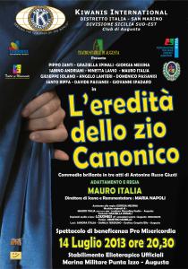 L'EREDITA' DELLO ZIO CANONICO, IL TEATRO AL SERVIZIO DEL SOCIALE