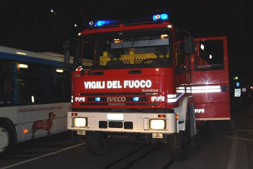 INCENDIO DOLOSO IN VIA PERGOLESI