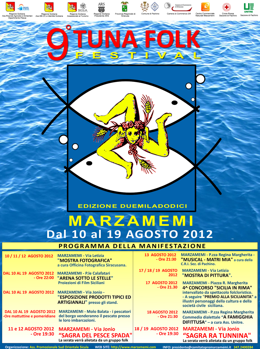 WEEK END ALL'INSEGNA DEL PESCE SPADA , AL VIA IL TUNA FOLK FESTIVAL