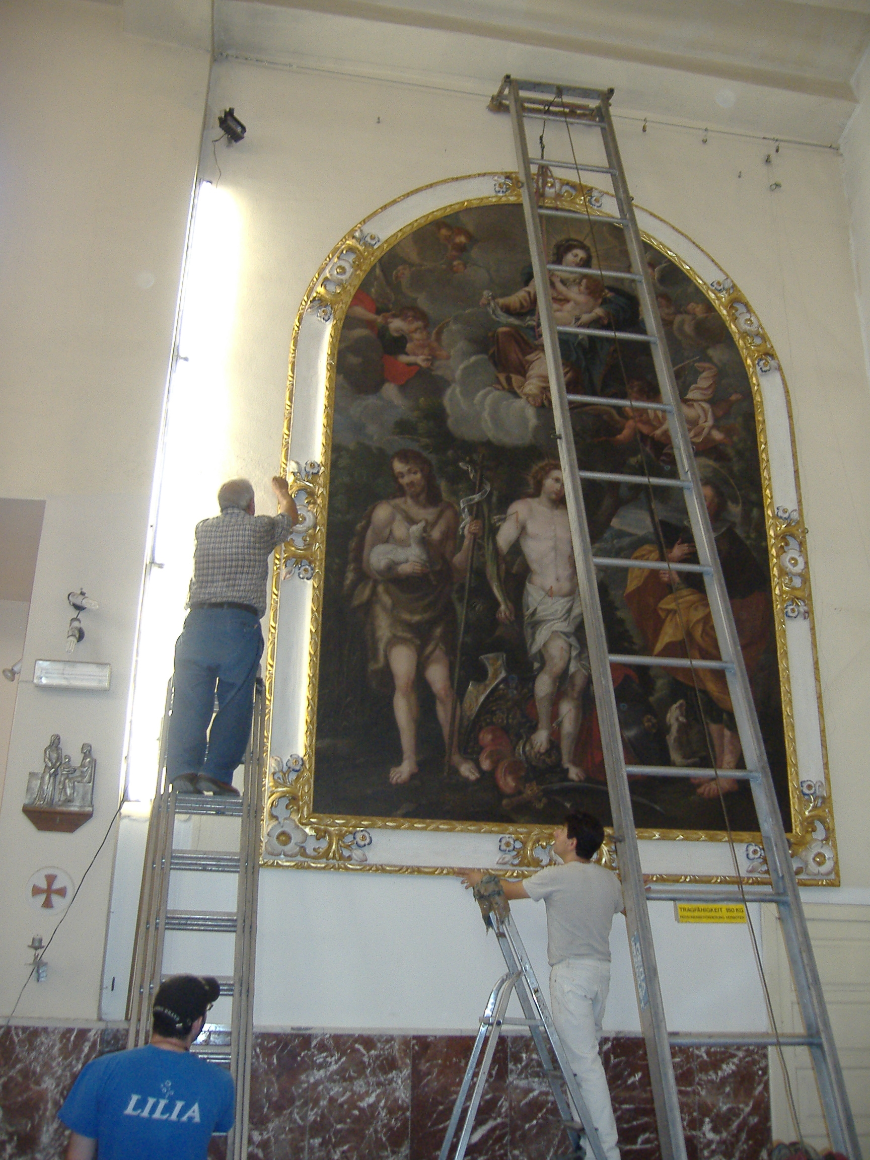 Restaurato il dipinto di San Sebastiano