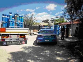 Scoperto deposito abusivo di bombole in Contrada Spinagallo