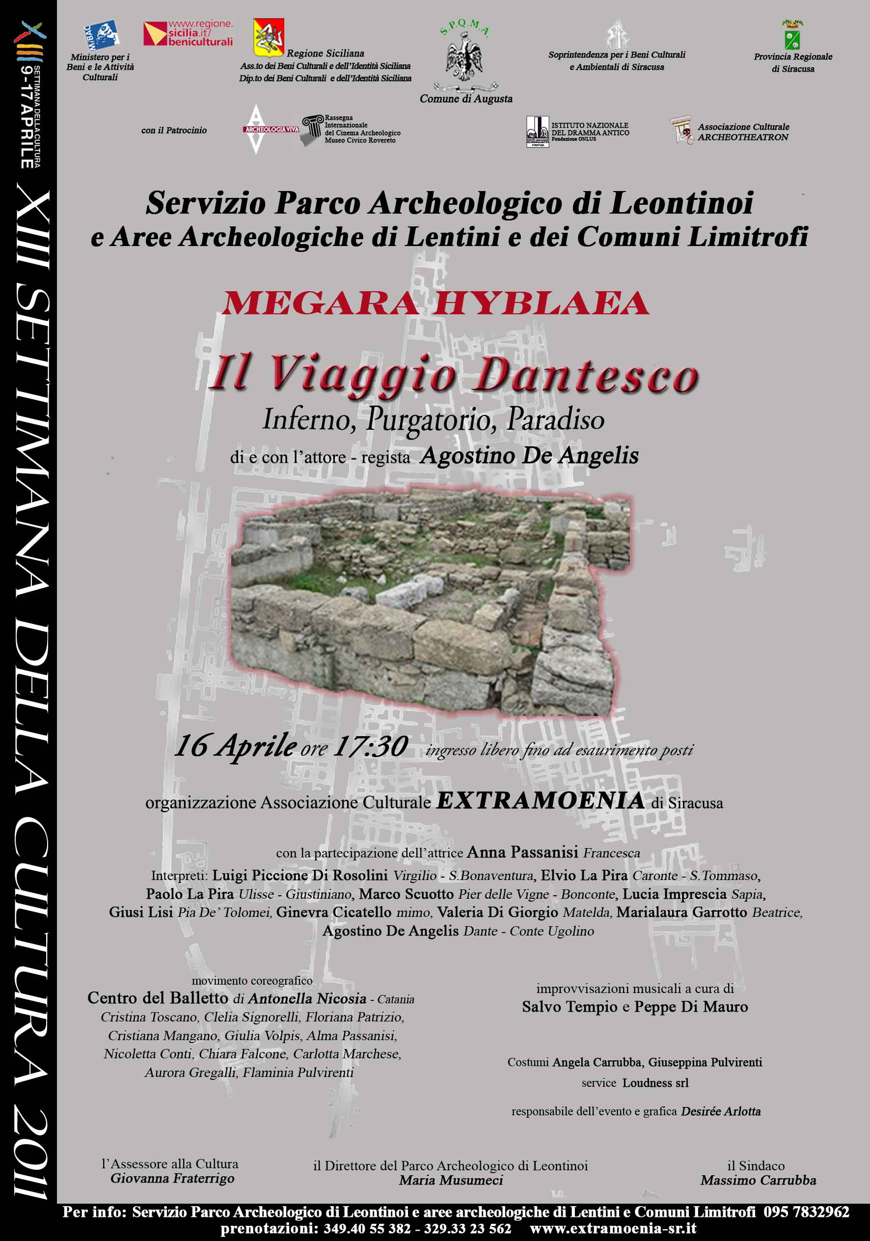 VIAGGIO DANTESCO AL PARCO ARCHEOLOGICO MEGARA HYBLAEA