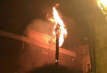 Lentini| Fuochi pirotecnici per sant'Alfio: una palma va a fuoco