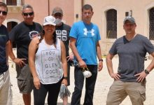 Lentini| Palazzo Beneventano: militari americani al lavoro