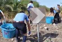 Lentini| Scout al lavoro, ripulito dal vetro uno degli ingressi principali alla città
