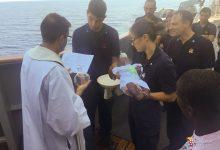 Sicilia  Marina Militare: battezzata la piccola Noa Mary sulla fregata FASAN