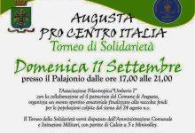 Augusta| Augusta per il Centro Italia, domani pomeriggio Torneo di solidarietà al Palajonio