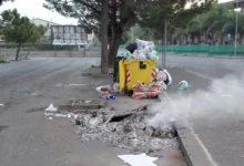 Lentini| Distrutti dalle fiamme stanotte i cassonetti della differenziata