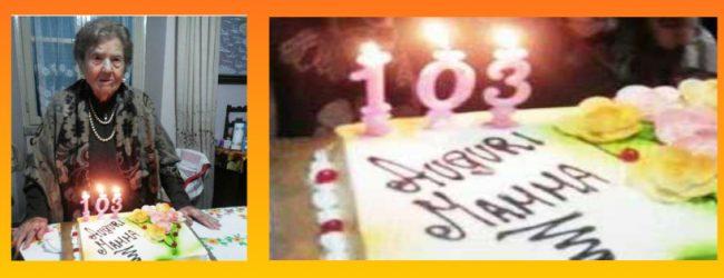"""Augusta  La """"nonnina"""" di Augusta ha festeggiato 103 anni"""