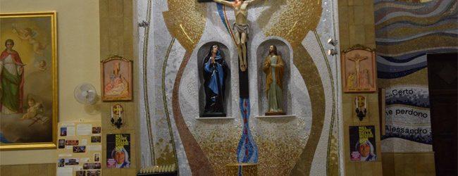 Augusta| L'Arcivescovo Pappalardo all'inaugurazione del nuovo fonte battesimale del  Sacro Cuore