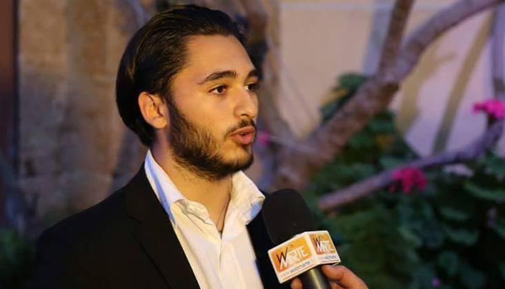 Il segertario dei Giovani Democratici Manuel Mangano