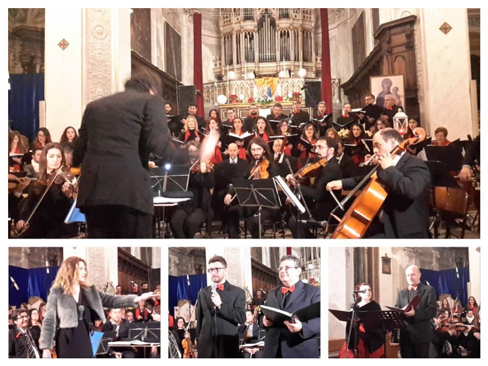 alcuni momenti del concerto natalizio del coro ad dei laudem