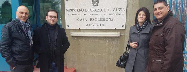 Augusta  Delegazione dell'Ugl P.P. in visita al carcere di Augusta