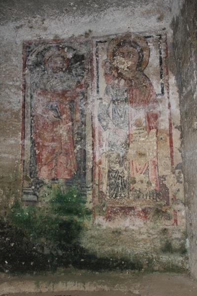 affresco grotta crocifisso
