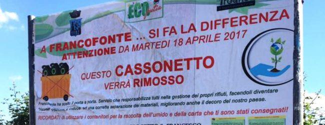 Francofonte| Raccolta porta a porta dell'umido, parte oggi il progetto sperimentale nel quartiere San Francesco