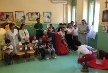 Siracusa| Gian Burrasca tra i bambini della pediatria dell'ospedale di Siracusa