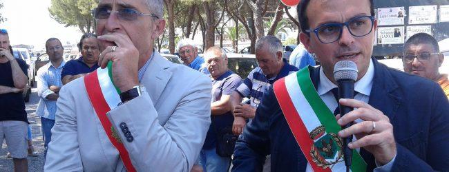 Melilli  Protesta dei sindaci di Giuseppe Carta e Antonello Rizza