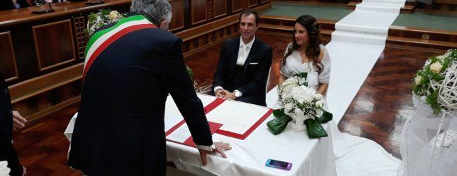 Lentini   Oggi pomeriggio nell'aula consiliare il matrimonio di Francesca Reale e Stefano Battiato