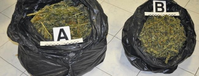 Augusta  Droga nei sacchi di spazzatura