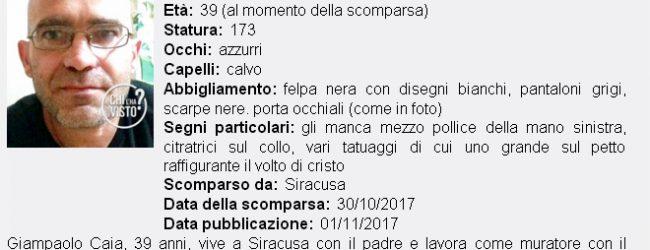Priolo| Nessuna notizia di Giampaolo Caia