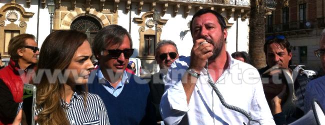 Augusta| Salvini in comizio col megafono