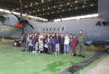 Augusta  L'Arangio Ruiz in visita alla base aerea di Sigonella