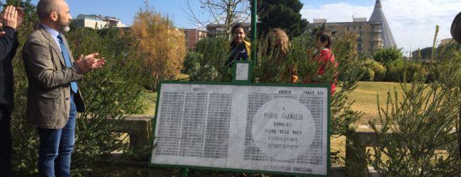 Siracusa  Un giardino dedicato a Mario Francese