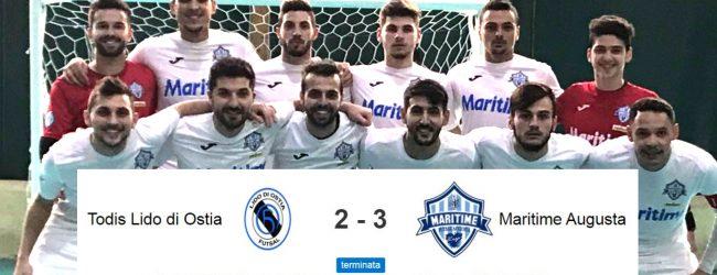 Augusta| Calcio a 5, serie A2: il Maritime passa anche ad Ostia (2-3) con Lemine e Selucio