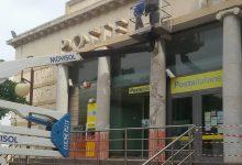 Augusta  Posta chiusa per lavori al prospetto