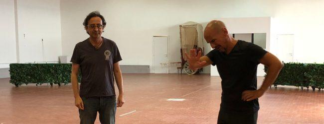Siracusa| Al Palazzo Inda attori e regista dei I Cavalieri