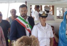 Siracusa | Fontane Bianche, il sindaco alla processione con le barche dedicata a Maria Stella del Mare