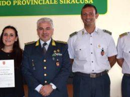 Siracusa | Nota di elogio della Guardia di Finanza a Giuliana Garagozzo