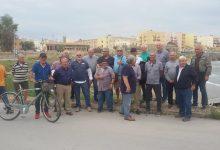 Augusta| Protesta degli anziani pescatori dilettanti sul lungomare Paradiso.