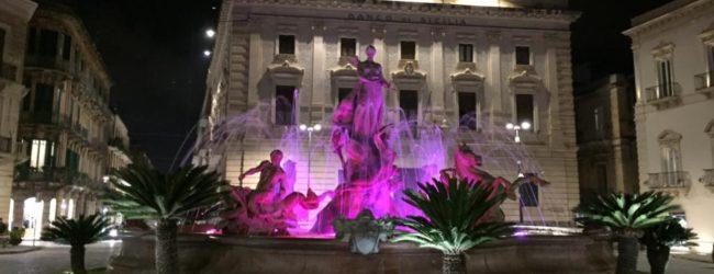 Siracusa| Giornata del Prematuro, e la città si tinge di viola