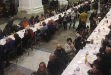 Augusta| Cena di solidarietà ieri nella navata centrale della chiesa Madre.