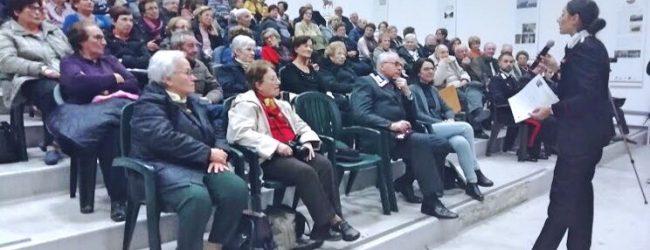 Augusta| Conferenza sulle truffe agli anziani tenuta dai Carabinieri.