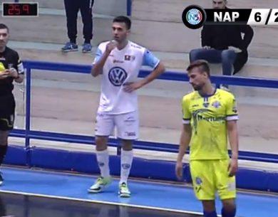 Augusta  Calcio a 5, serie A &#8211; Il Maritime gioca, crea tanto, ma contro il Napoli non basta<span class='video_title_tag'> -Video</span>