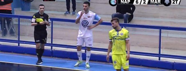 Augusta| Calcio a 5, serie A &#8211; Il Maritime gioca, crea tanto, ma contro il Napoli non basta<span class='video_title_tag'> -Video</span>