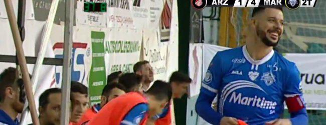 Augusta| Maritime: poker esterno in rimonta al Real Arzignano (4-1) e seconda vittoria consecutiva<span class='video_title_tag'> -Video</span>