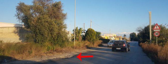 Siracusa| Strada per Belvedere, avvallamenti pericolosi per motociclisti