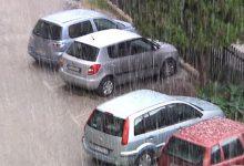 Augusta| Neve sulla città oggi poco dopo mezzogiorno.