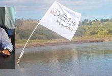 Augusta| Bandiera nelle saline del Mulinello contro la cementificazione.