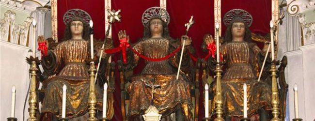 Lentini   Chiesa della Fontana, colletta per restaurare le statue dei tre santi
